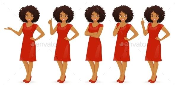 Woman in Dress Set - Miscellaneous Vectors