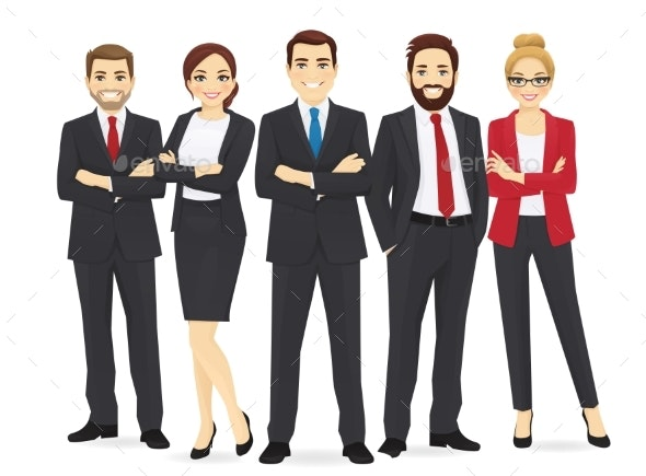 Business Team Set - People Characters