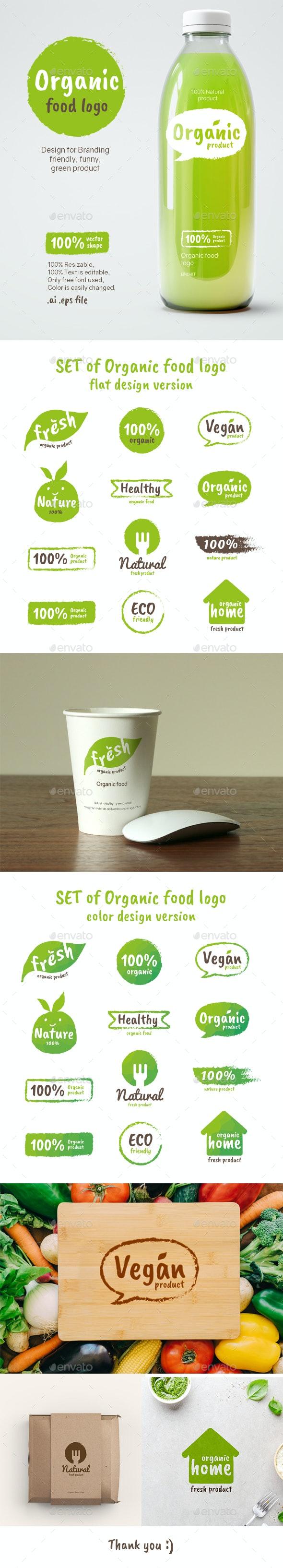 Organic Food Logo - Badges & Stickers Web Elements
