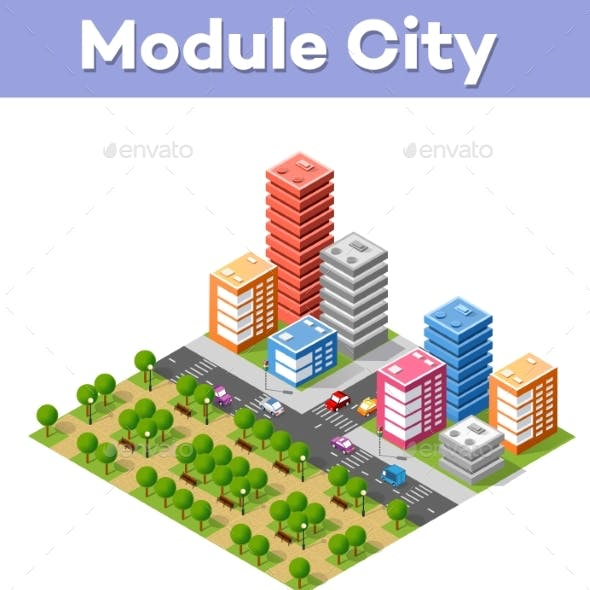 Colorful Isometric City