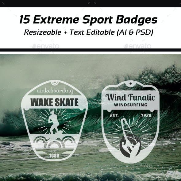 Extreme Sports Vintage Logo and Badges