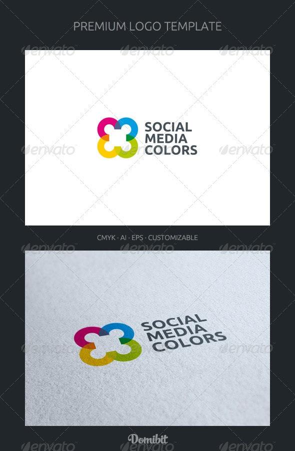 Social Media Colors - Logo Template - Abstract Logo Templates