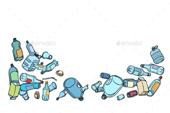 Plastic Waste Ecology and Recycling - Man-made Objects Objects
