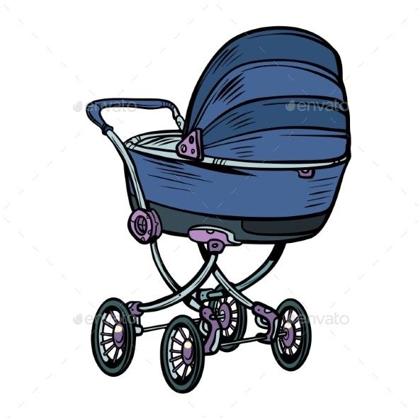Pram Baby Carriage Stroller Perambulator Buggy - Miscellaneous Vectors