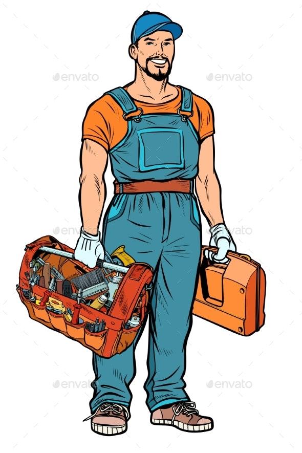 Repairman Handyman Service Professional - People Characters