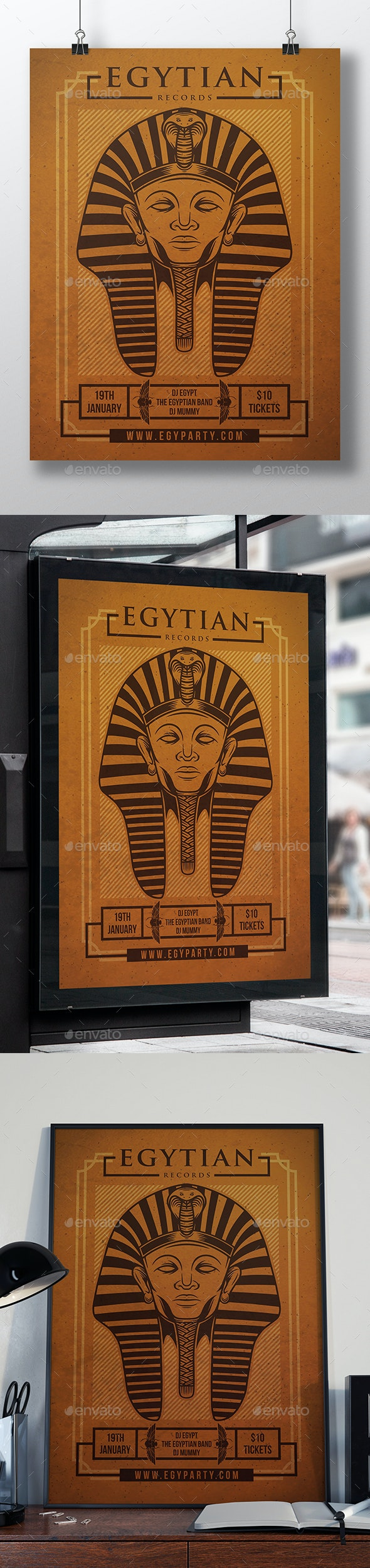 Egyptian Night Flyer Template - Clubs & Parties Events