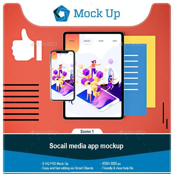 Social Media App MockUp