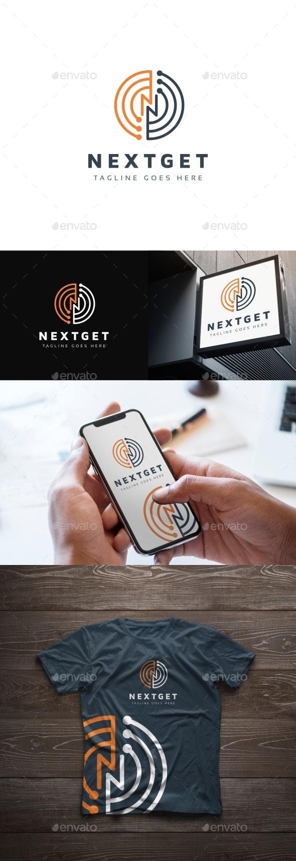 Nextget N Letter Logo - Letters Logo Templates