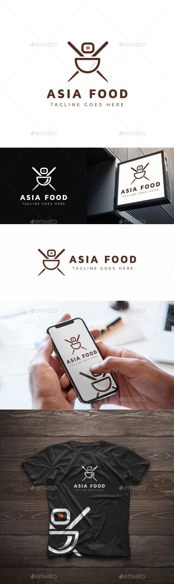 Asia Food Logo - Logo Templates