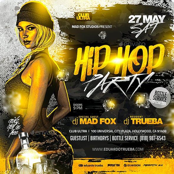 Hip Hop Party Flyer
