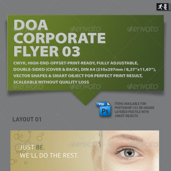 DOA Natural Spa Corporate Flyer