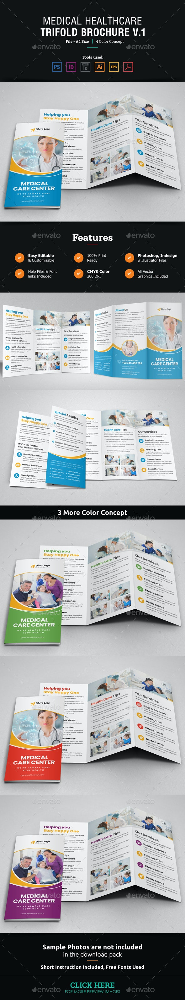 Medical Healthcare Trifold Brochure v1 - Corporate Brochures