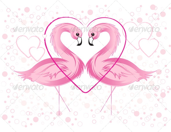 Valentine's day flamingo - Animals Characters