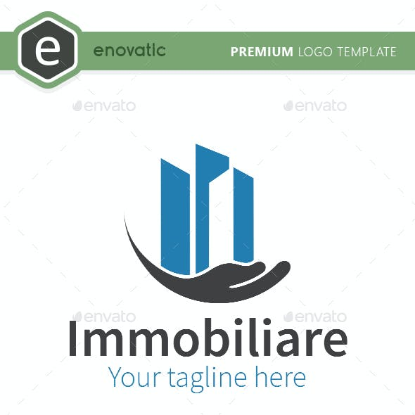 Immobiliare Real Estate Logo Template