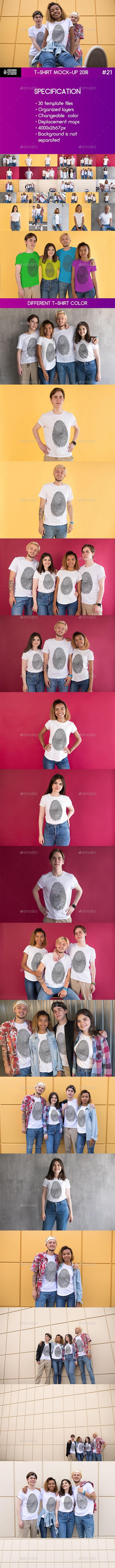 T-Shirt Mock-Up 2018 #21 - Product Mock-Ups Graphics