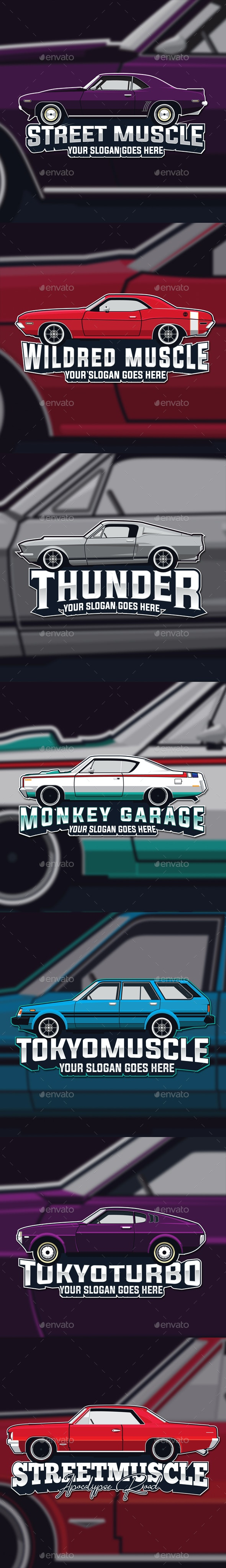 Muscle Car Logo Template - Sports Logo Templates