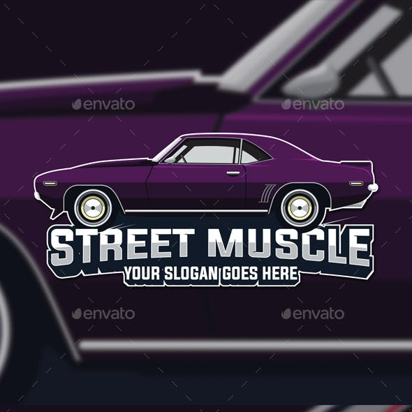 Muscle Car Logo Template