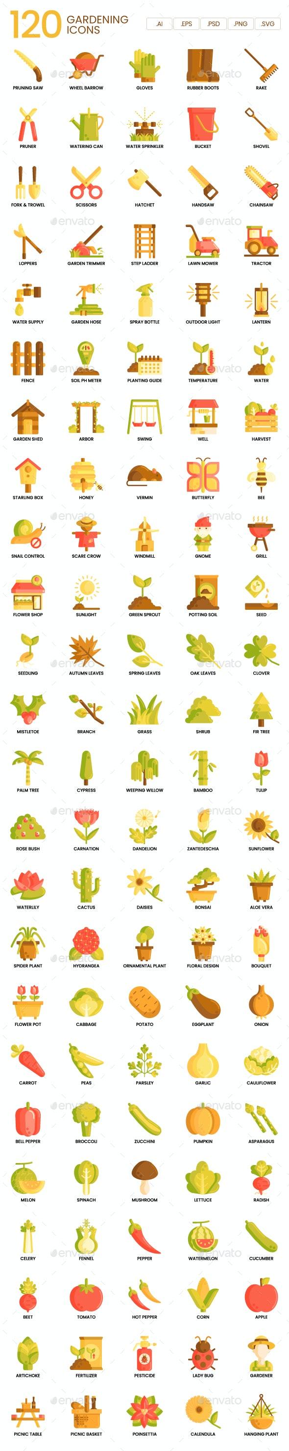 Gardening Icons - Caramel Series