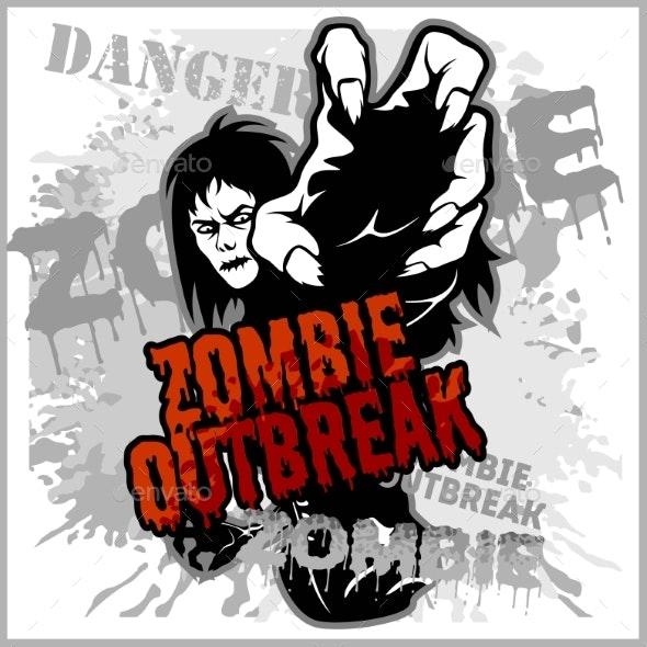 Poster Zombie Outbreak - Miscellaneous Vectors