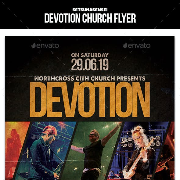 Devotion Church Flyer
