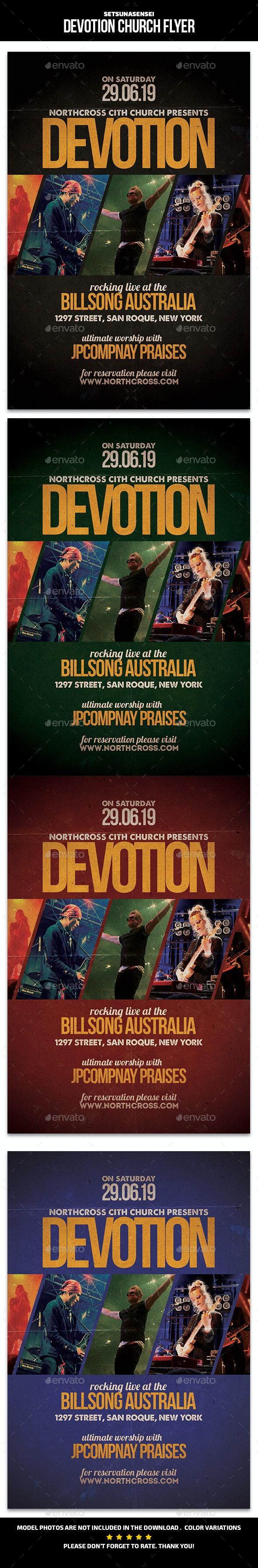 Devotion Church Flyer - Church Flyers