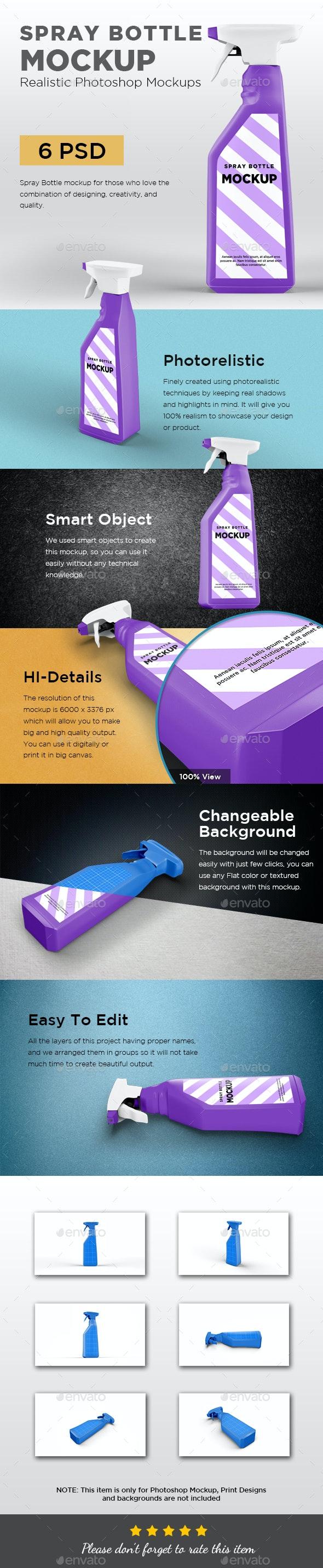 Spray Bottle Mockup V2 - Packaging Product Mock-Ups