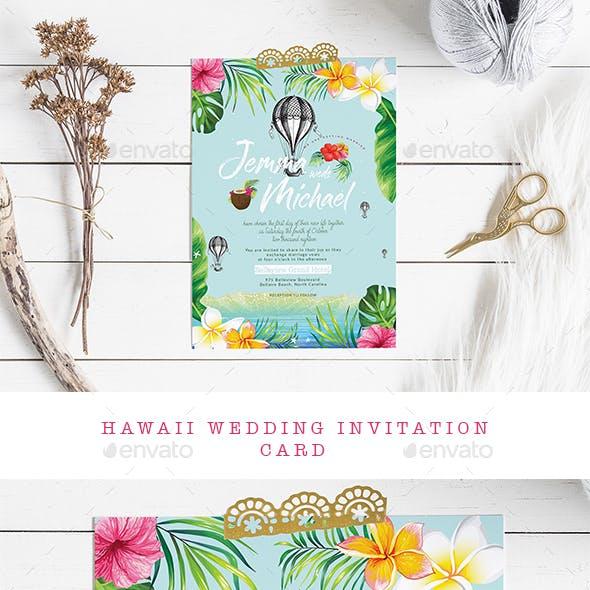 Hawaii Wedding Invitation Card
