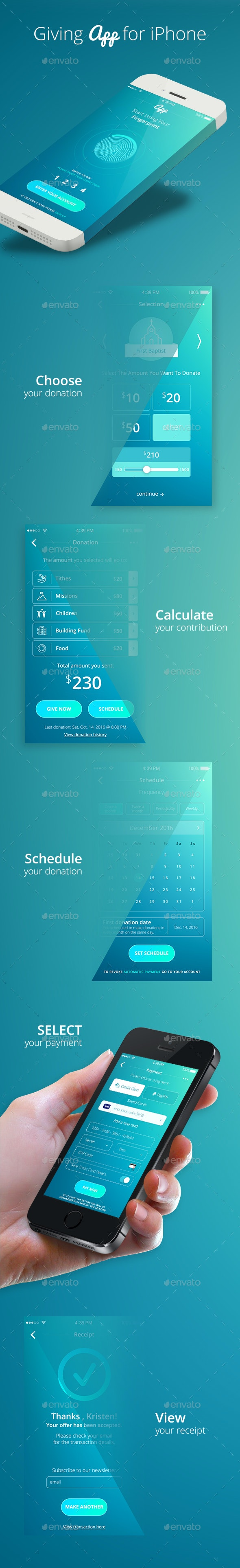 Donation App for Churches - User Interfaces Web Elements