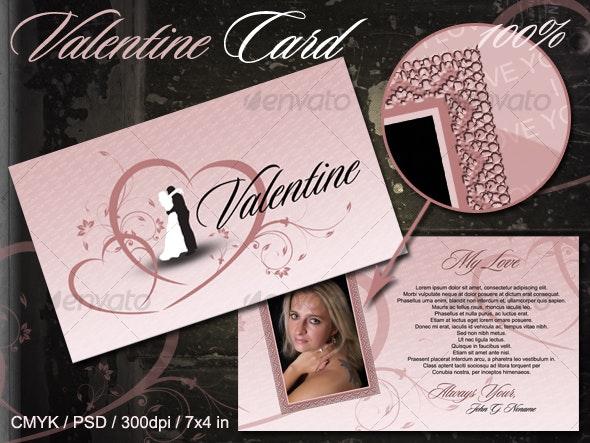 Valentine Card - Miscellaneous Print Templates
