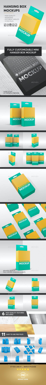 Hanging Box Mockups V.1 - Miscellaneous Packaging