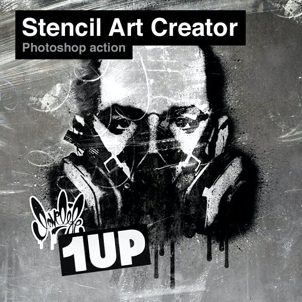 Stencil Art Creator Photoshop Action