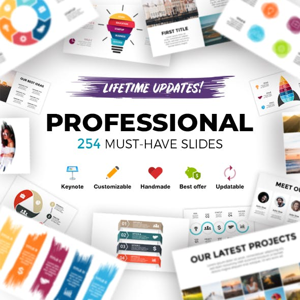 Professional. Infographic Templates. Keynote. Updatable!