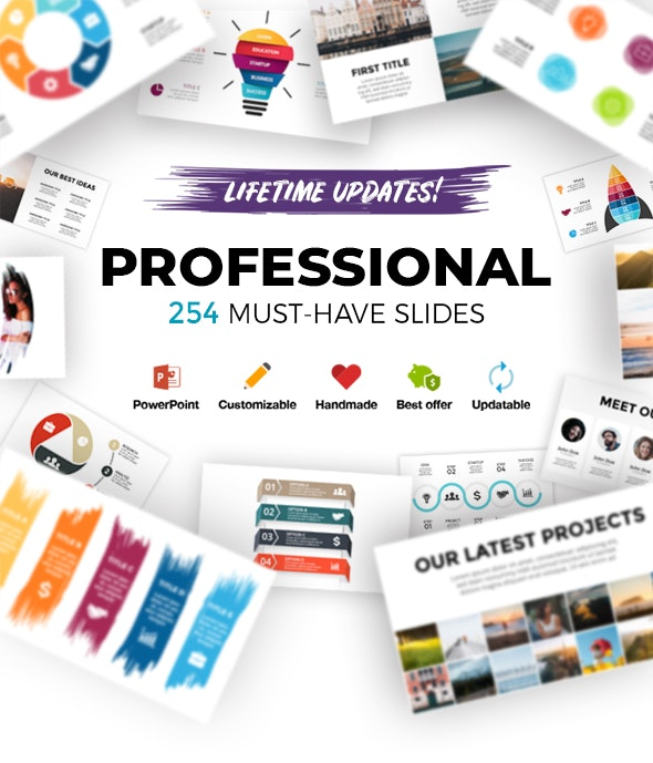 Professional. Infographic Templates. PowerPoint. Updatable! - PowerPoint Templates Presentation Templates