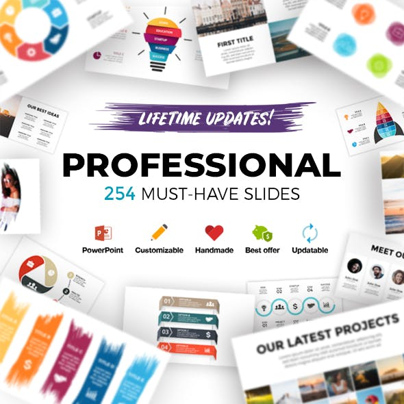 Professional. Infographic Templates. PowerPoint. Updatable!