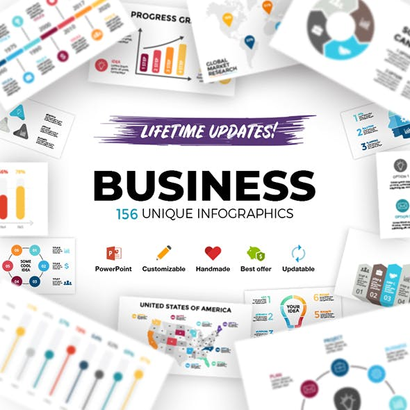 Business. Infographic Templates. PowerPoint. Updatable!