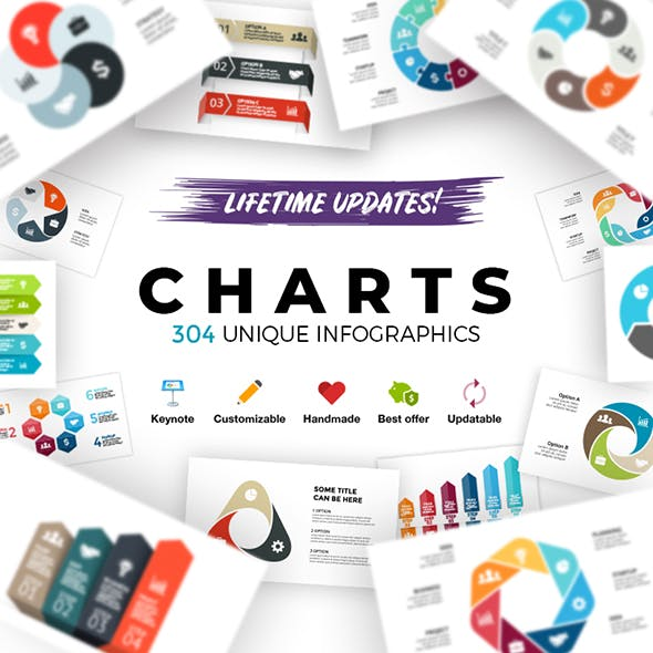 Charts. Infographic Templates. Keynote. Updatable!