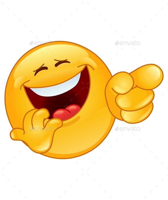 Laughing and Pointing Emoticon - People Characters
