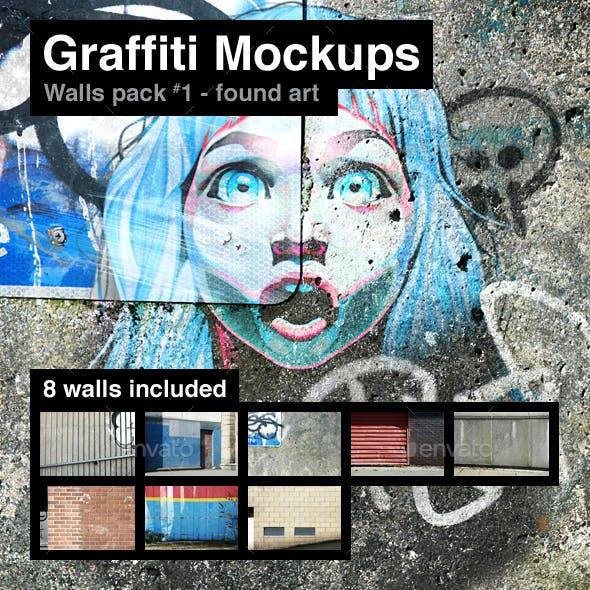 Graffiti Mockups - Walls Pack 1