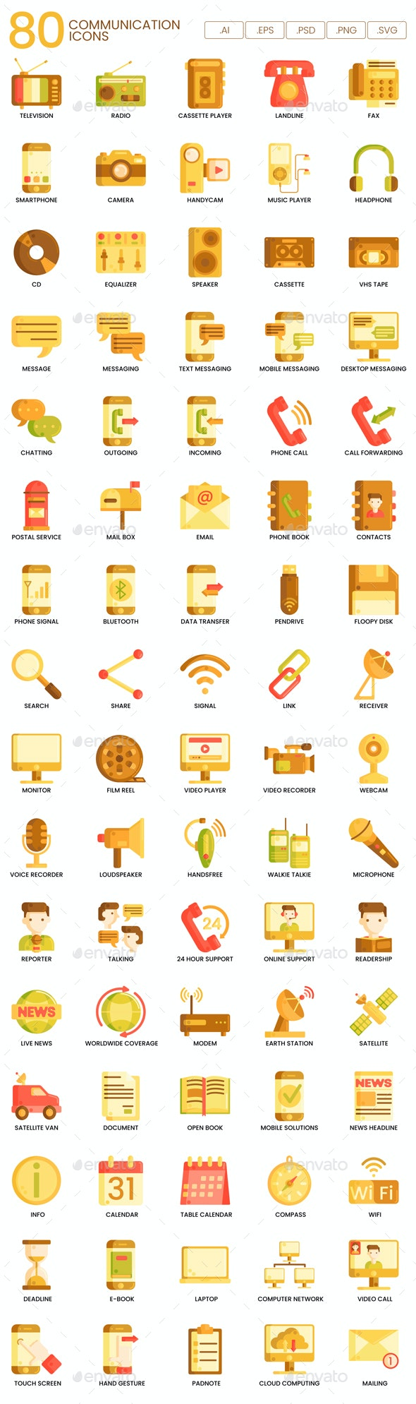 Communication Icons - Caramel Series - Business Icons