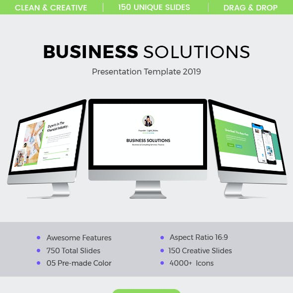 Business Solutions Keynote Template 2019