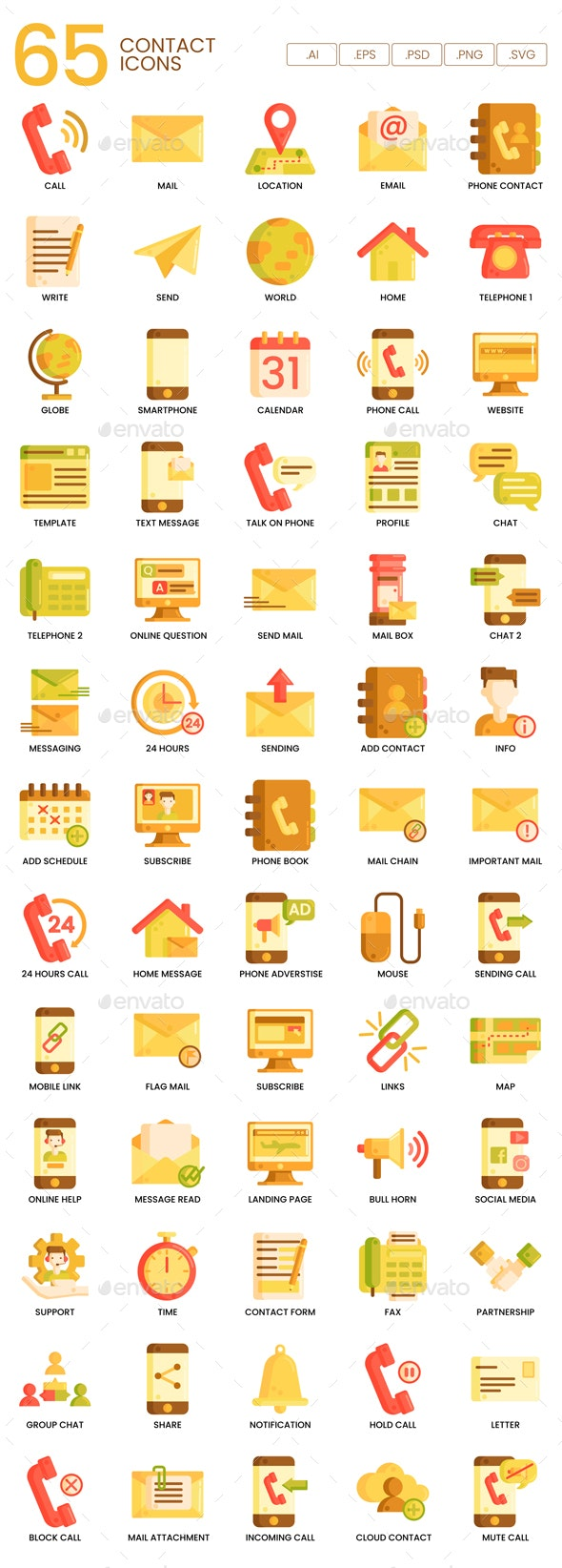 Contact Icons - Caramel Series - Business Icons