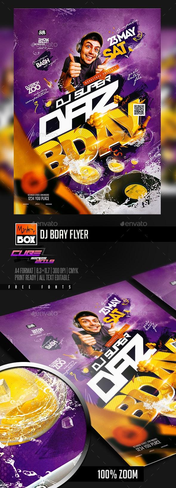 Dj Bday Flyer - Clubs & Parties Events
