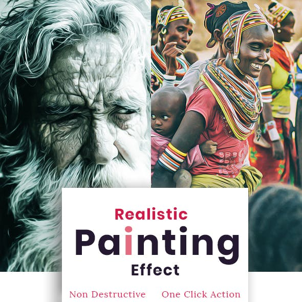 Realistic Painting Effect - Photoshop Action