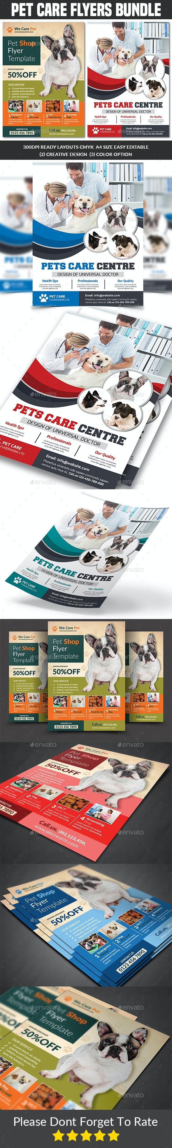 Pet Care Flyers Bundle - Commerce Flyers