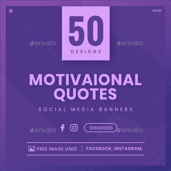 Quotes Facebook and Instagram Banner Set - 50 Designs