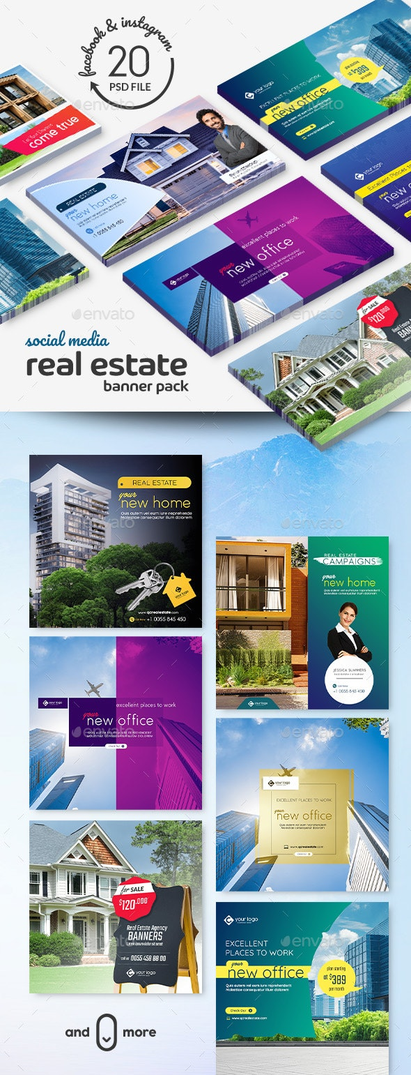 Real Estate Banner Pack - Banners & Ads Web Elements