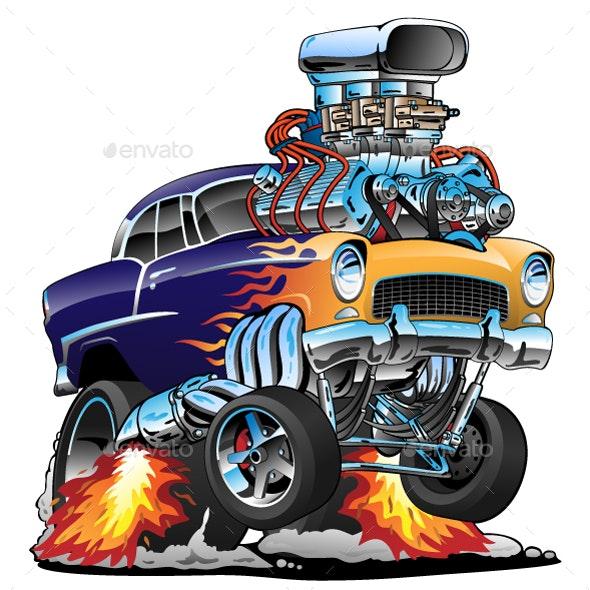 Classic Hot Rod - Miscellaneous Vectors