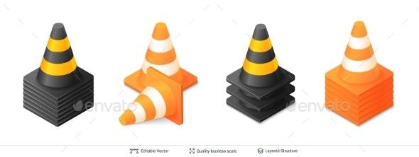 Traffic Cones - Miscellaneous Vectors