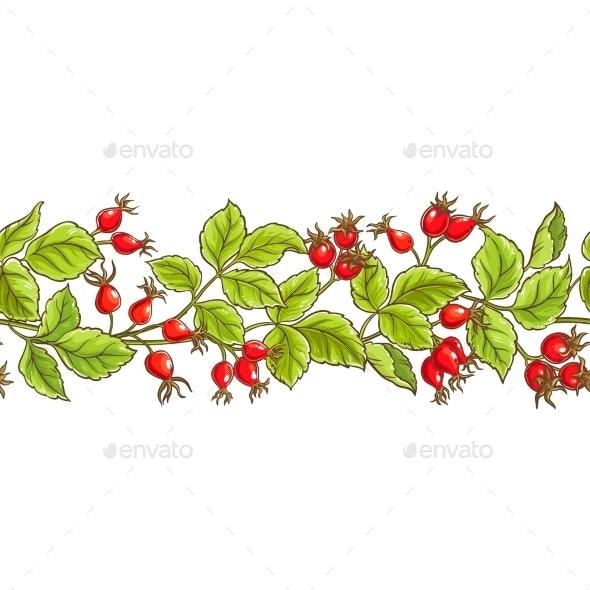 Wild Rose Vector Pattern - Health/Medicine Conceptual