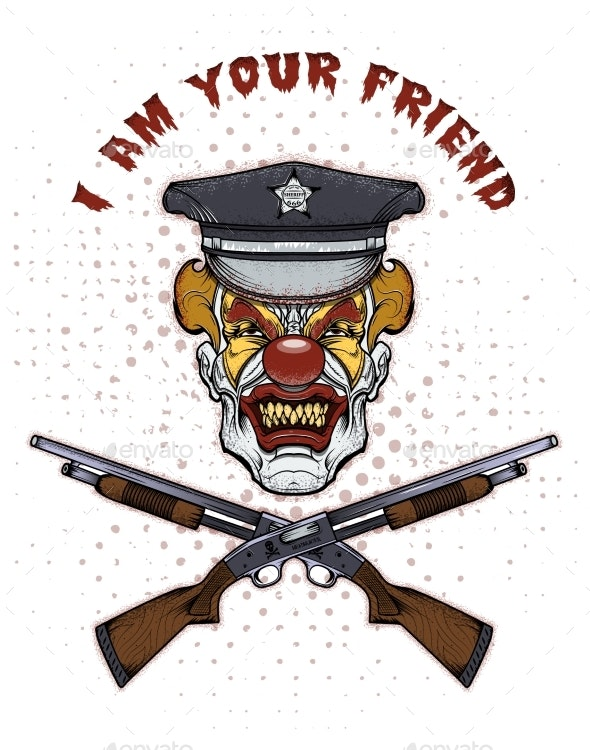 Mad Fat Clown Killer with Guns - Miscellaneous Characters